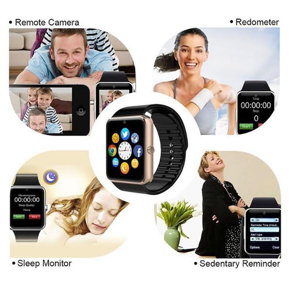Bluetooth GT08 Smart Watch Phone Beste Smartwatch 2019 Sim-Karte TF-Karte Kamera Smart Clock für Apple Watch Iphone Android