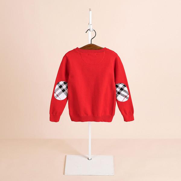 2019 autunno e l'inverno dei bambini bambini dei vestiti a maniche lunghe maglione angora maglione pullover girocollo Inghilterra