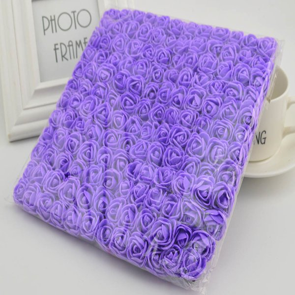 2cm Mini Foam Roses Home Wedding Fake Decora Scrapbooking Diy Wreath Gift Box Cheap Artificial Flower Bouquet C19041701