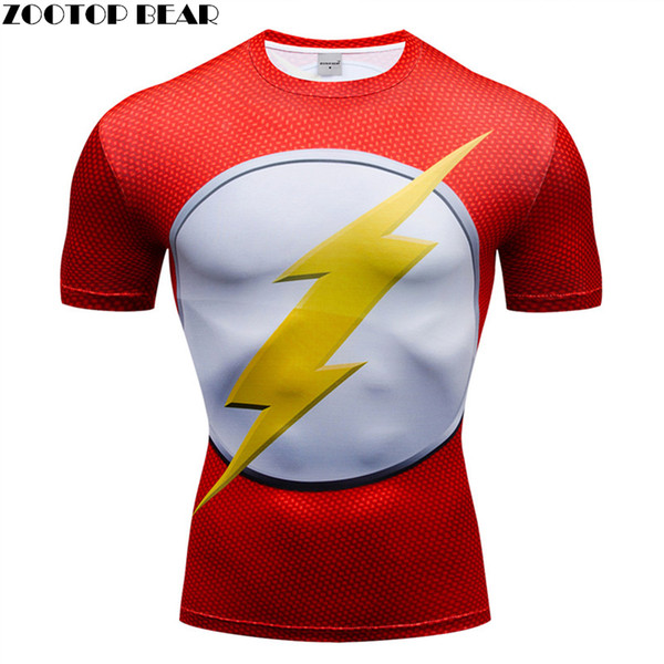 3D t shirt Men Compression Short Sleeve T-shirt Top Bodybuilding Fitness Male Tshirt Crossfit Homme Anime Superhero Tee Costume