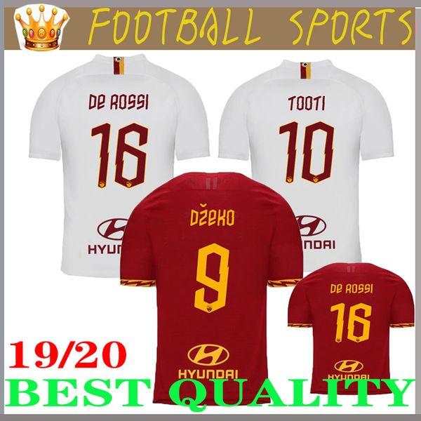 Nouveau Maillots de football DZEKO PEROTTI PASTORE ZANIOLO 2019 Rome 2020 Maillot TOTTI 19 20 Maillot de football Kit DE ROSSI JESUS comme maillot de foot roma