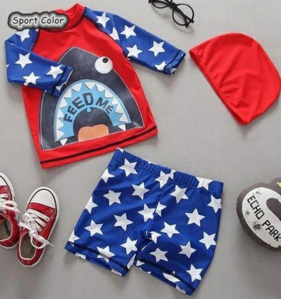 Popular Kids Swimsuit Quality Boys Baby Swimwear Two-pieces Bath Suit Infant Cartoon Children Beachwear 1-5Years