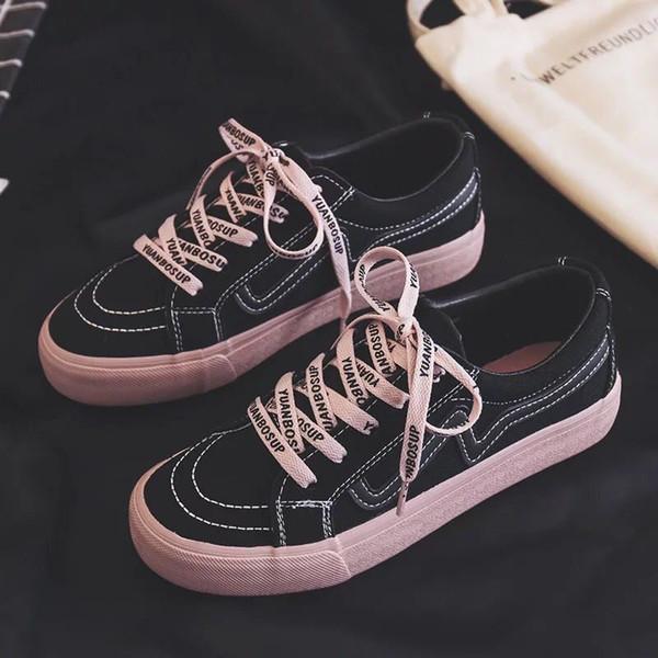 2019 outono novas mulheres sapatos casuais impressos sapatos casuais mulheres sapatos de lona tenis feminino moda lace-up mulheres tênis