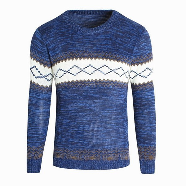 2019 O-neck Sweaters Knitted Long Sleeve Men Sweater Mens Thickening Keep Warm Bottoming Sweaters Pullover Xxxl
