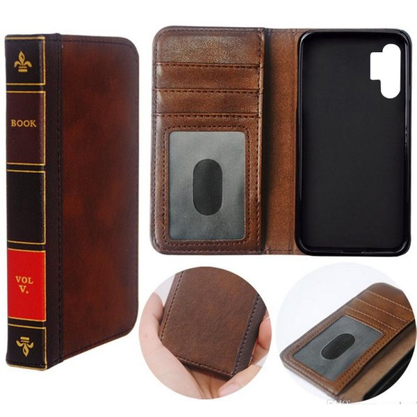 Flip Leather cell Phone Case for Samsung Note 10 10PlusCover Wallet Retro Bible Vintage Book Business Pouch