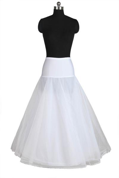 Neue Ankunft heißer Verkauf Real Photo Frauen eine Linie bodenlangen Brautkleid Unterrock Petticoats Slips
