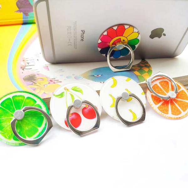 Applicable to iphone XS glory 10Lite XiaoMi9SE 9 universal cute finger ring summer fruit full 360 degree mobile phone holder