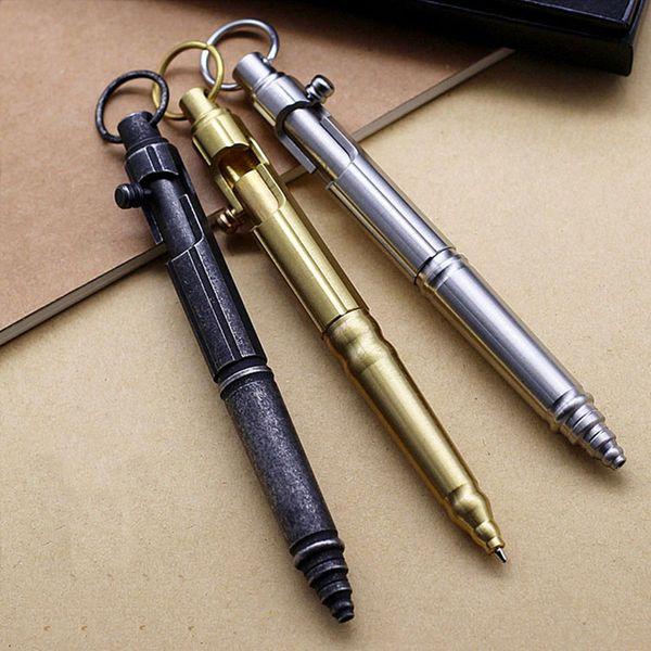 EDC Multi-purpose Brass Tactical Defense Pen Outdoor Emergency Survival UK