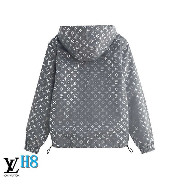 Veste à capuche pour hommes Printemps Automne Zipper coupe-vent en vrac Star Print pour les hommes et les femmes Manteau lettres Veste réfléchissante SizeH8