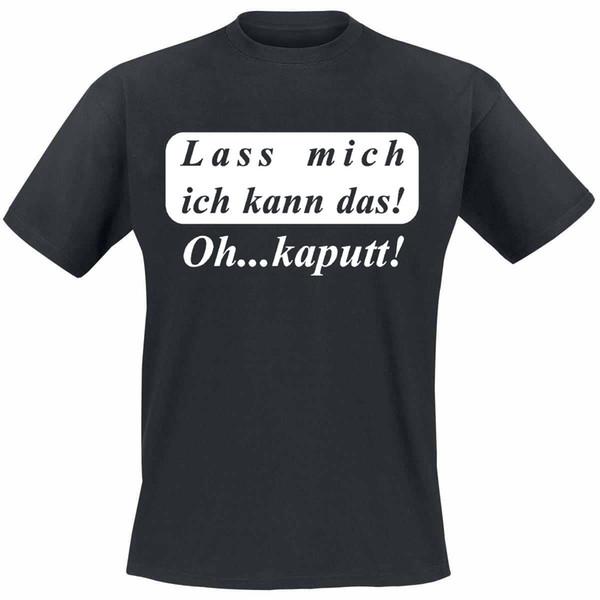 Compre Lass Mich Ich Kann Das Coole Lustige Sprüche T Shirts Camiseta De Diversión Divertida Envío Gratis Unisex Casual Camiseta Top A 1296 Del