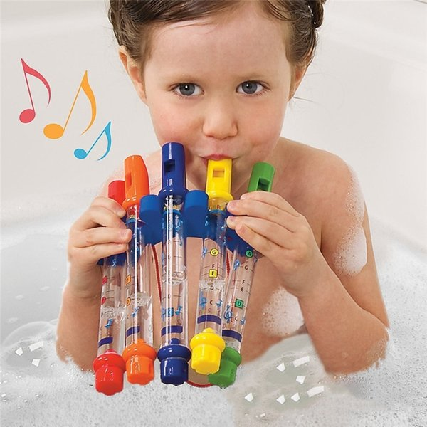 baby bath toy 1Pcs Water Flute Kids Children Colorful Water Flutes Tub Tunes Toys Fun Music Sounds Baby Shower Bath Toy