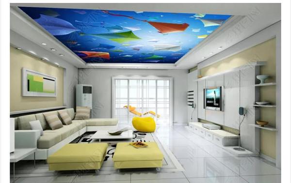 Personalizzato 3D grande soffitto di seta foto murale carta da parati semplice atmosfera cielo aquilone soggiorno zenith soffitto murale decorazione d'interni