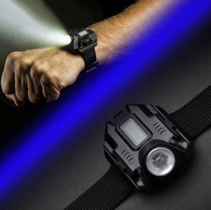 best selling XPE R2 LED Wrist Watch Flashlight Torch Waterproof Running Watch Tactical Watch Lighting With Time LED Display Built-in Battery