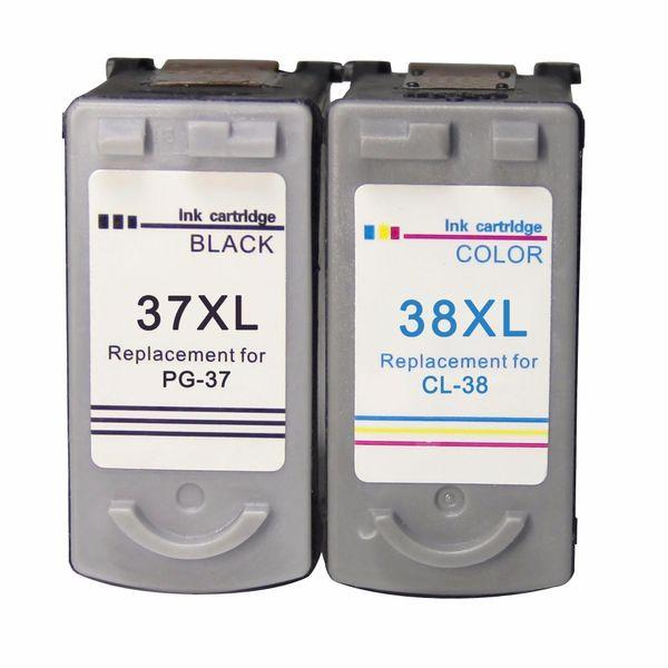 Canon mürekkep kartuşu için PG37 CL38 yedek PG 37 CL 38 Pixma MP190 IP2600 MP140 MP210 MP230 MP420 IP1800 MX300 MX310 yazıcı