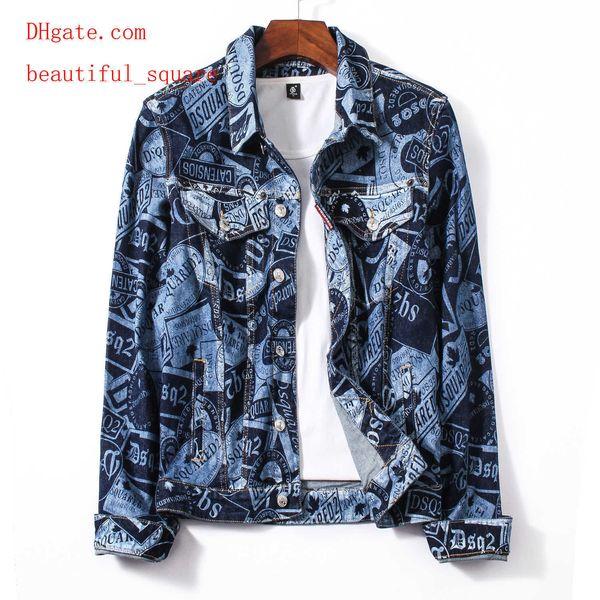 mens 2019 vestiti di marca giacca giacca di jeans colore risvolto mens strada cappotto moda lettere popolari vestiti degli uomini vestiti JK-36
