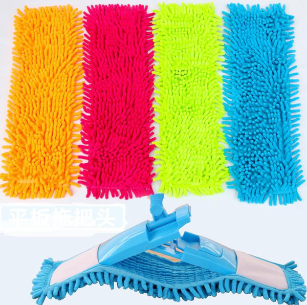 Mops Covers Floor Clean Pad Water Uptake Chenille Flat Mop Cover Head Replacement Refill Practical Household Cleaning Tools wang