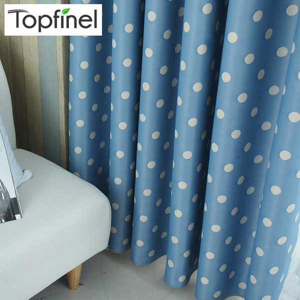 Top Finel Polka Dots Blackout Window Curtains for Living Room Bedroom Children Curtain Panel for Kids Baby Room Curtains Fabric