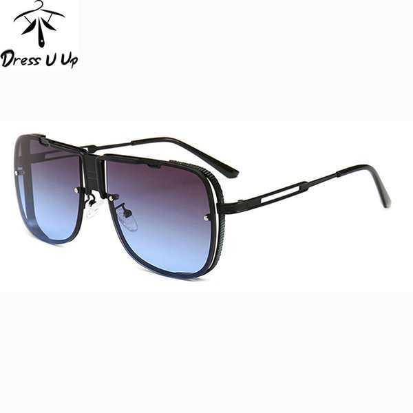 DRERSSUUP Новое прибытие Солнцезащитные очки Мужчины Мужской Марка конструктора Rectangle Sunglass Mens покрытие Солнцезащитные очки Мужчина для