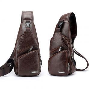 Erkekler Crossbody Çanta USB Kulaklık Kulaklık Ile Delik Tasarımcı Messenger Deri Omuz Çantaları Paketi Geri Paketi LJJP193