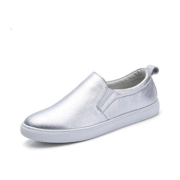 2019 ربيع وصيف المرأة الشقق جلدية متعطل الباليه الشقق أحذية رياضية بيضاء امرأة الانزلاق على أحذية تنس سوداء للنساء