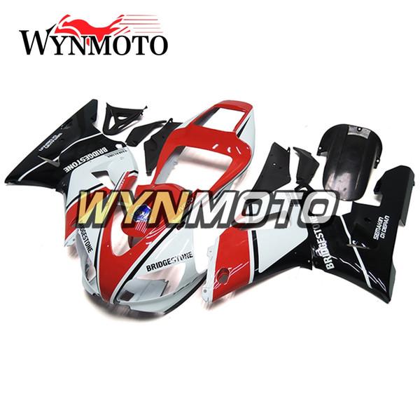 Personalizado Blanco Rojo ABS Inyección Motocicleta Carrocería Nuevo carenado para Yamaha YZF1000 R1 1998 1999 Completos marcos de carrocería