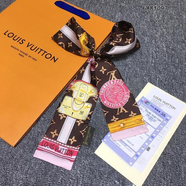 Новый дизайнер Шелковая Сумочка Длинный Шарф, шаль для Женщин Лучшее Качество Италия Бренд 100% Шелковые Шарфы маленькие шарфы для Сумки Головной платок