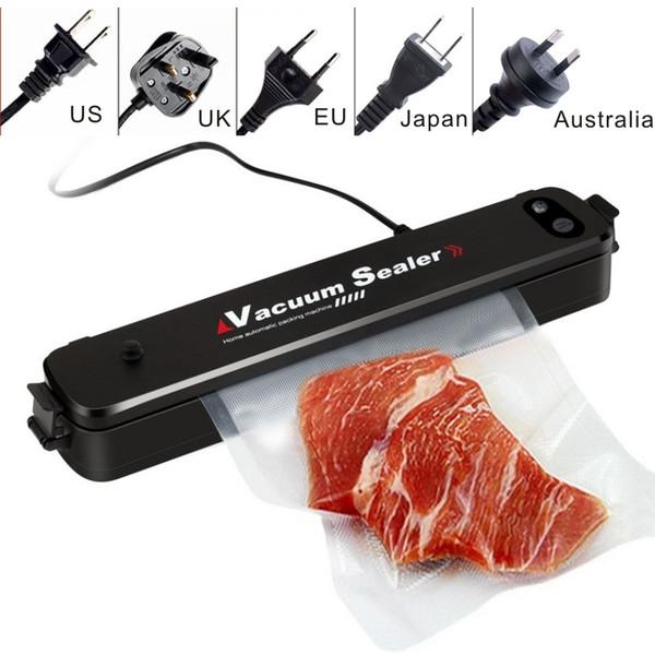 Alta qualidade Vacuum Sealer Automático Food Saver Tamanho Compacto EUA DA UE REINO UNIDO Japão Austrália plug pode choos Presente 15 pcs livre Sealer Bags.