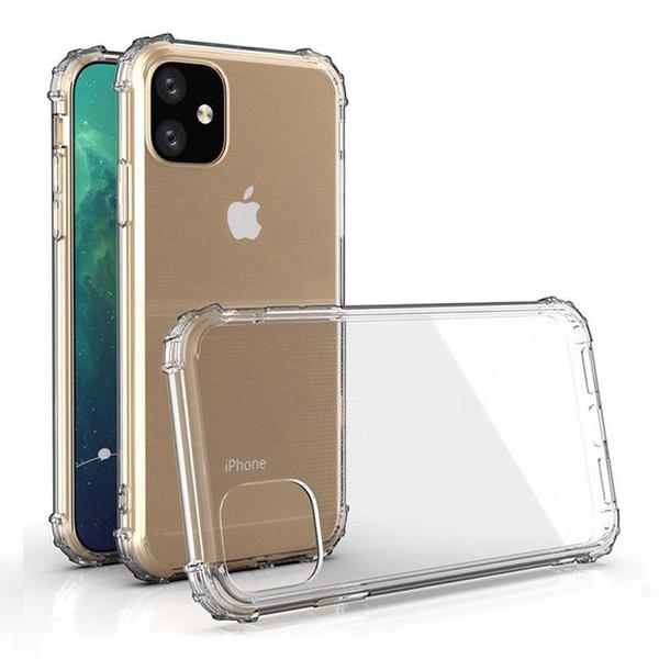 Чехол для телефона противоударный Бронированная мягкая TPU прозрачная задняя крышка 1 мм для iPhone 11 XS MAX XR 7 8 6S Plus Samsung Note10 S10 Huawei Xiaomi