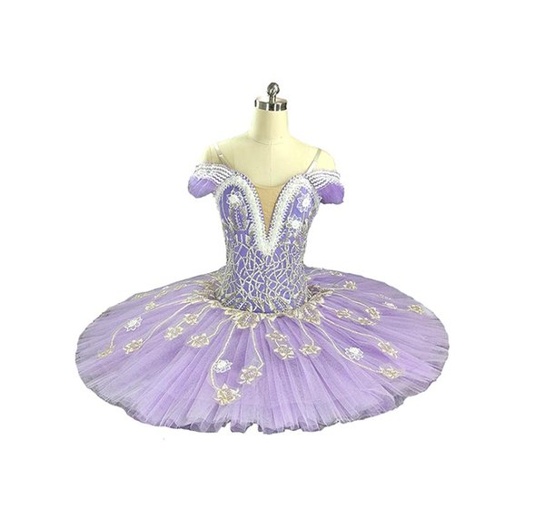 Adult/Kid Ballet Tutu Purple Fairy Professional Classical Ballet Tutu Costumes For Performance Nutcracker pancake Tutu Dance Wear Girls
