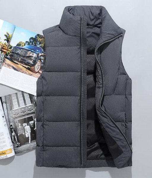 Men's Korean fashion trend boutique special personality handsome thickened warm loose autumn and winter new down jacket vest / M-2XL