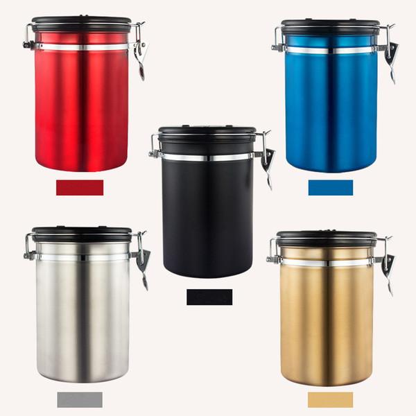 Kaffeebohnen für Kaffee Kanister Edelstahl Vorratstank Kaffeebohnenbehälter Muti Zweck Sealed Lagerung Flaschen Jar
