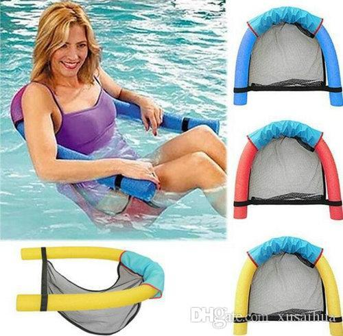 6.0x150CM Children Kids Soft Noodle Chair Pool Mesh Water Floating Chair Swimming Seat Various Colors