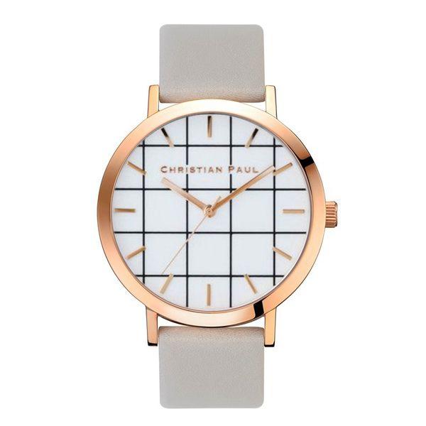 Роскошные мужские часы Марка кожаный ремешок CHRISTIAN PAUL женщины часы циферблат повседневная dress наручные часы бизнес подарок пояс для мужские relojes часы