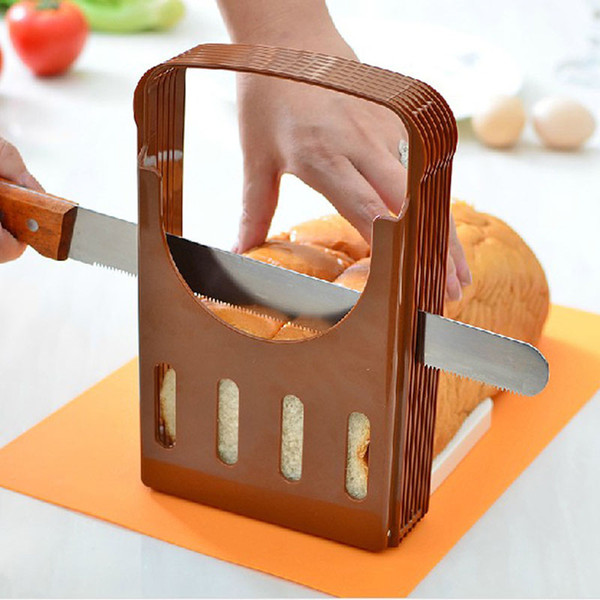 Bakeware Bread Splitter Home Breakfast Toast Slicer Baking Tools Practical Bread Slicer Kitchen Loaf Toast DIY Cutting Slicer DH1342