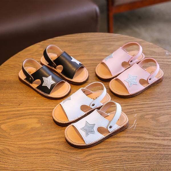 d763e202f Baby Children Infant Shoes Slipper Soft Bottom Princess Shoe Toe Catamite  Kids Fashion Sandals For Girls