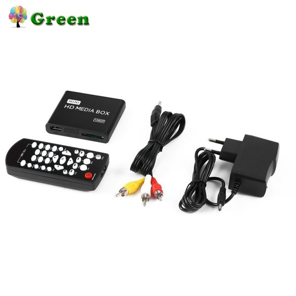 Mini Full 1080p HD Media Player Box MPEG/MKV/H.264 HDMI AV USB + Remote Support MKV / RM-SD / USB SDHC MMC EU plug