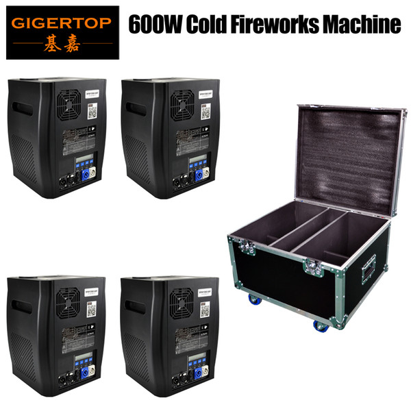 best selling Stackable 4in1 Flight Case Pack China Stage Effect Cold Fireworks Machine DMX512 (wireless optional) No Fire Spark Equipment