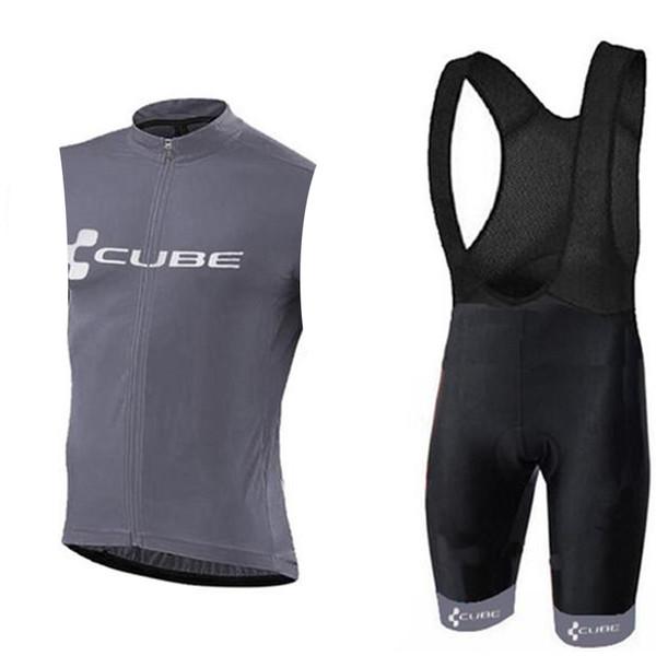 CUBE équipe cyclisme sans manches maillot gilet short court ensembles New Hot Sale Summer Mountain Bike Sweatshirt Confort