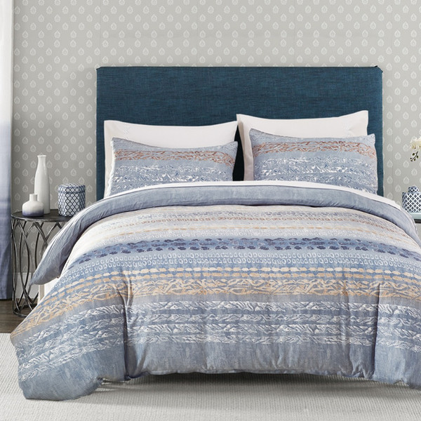 Classic bedding UK size blue white flower Series Bed 3pcs/set duvet cover set king size sheet AB side dekbedovertrek #SS