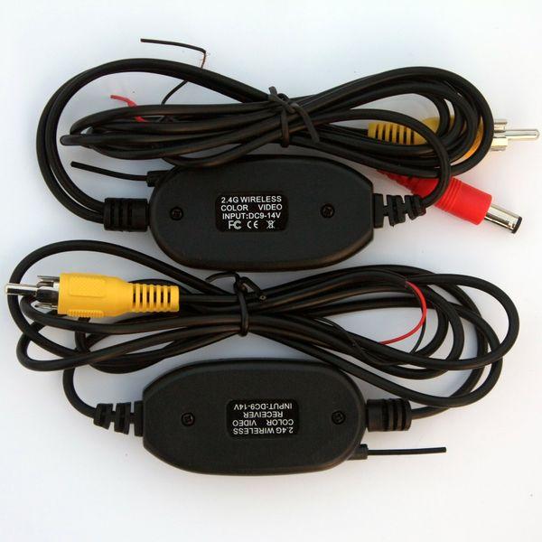 2.4 ghz Kablosuz RCA Video Verici Alıcı Kiti için Araba DVD Monitör GPS Dikiz CCD Kam Ters Yedekleme Kamera kam