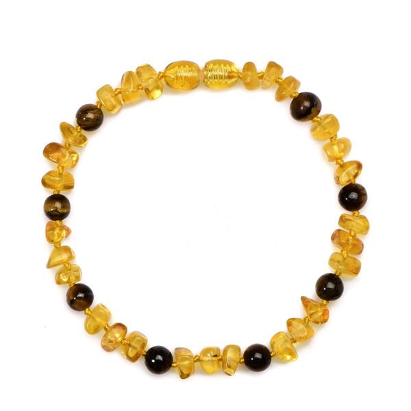 Baby Zahnen Ambar Armband Andenken Zertifizierte authentische echte baltische natürliche Ambar Halskette für das Geschenk der Mutter