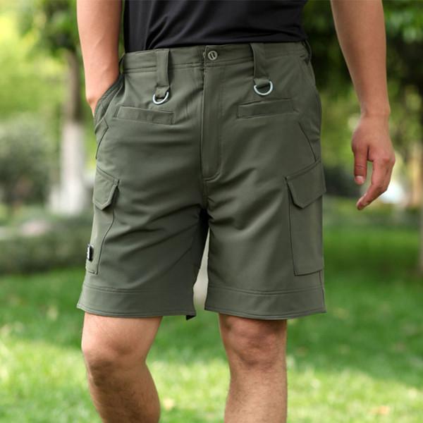 top popular 2018 New Men shorts Summer outdoor sport Quality dry Loose Multi 8 pockets sweatpants trekking hiking short pants 2019