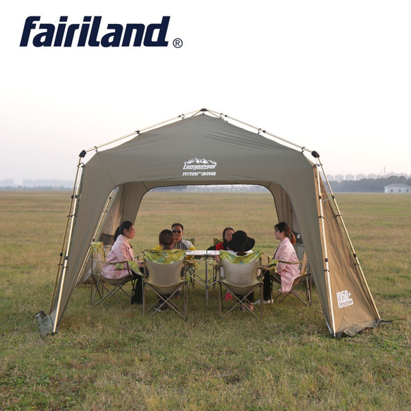 Big Sun Shelter Automatic Instant Ultralarge Outdoor Camping Tent with Windbreak sheet, Mosquito proof net , Inner tent