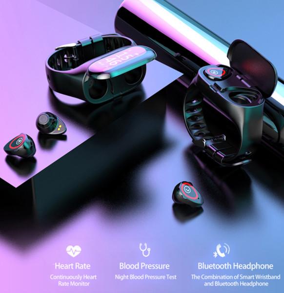 TWS Bluetooth 5.0 Наушники Беспроводные наушники для телефона Smart Watch с пульсометром True Wireless Стерео Спортивные наушники