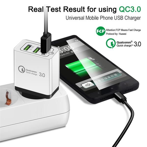 Tragbares Reiseladegerät Schnellladegerät QC3.0 Schnellladung Schnellladung 3 USB-Anschlüsse Schnellladung 1M 3ft Ladekabel für Smartphones