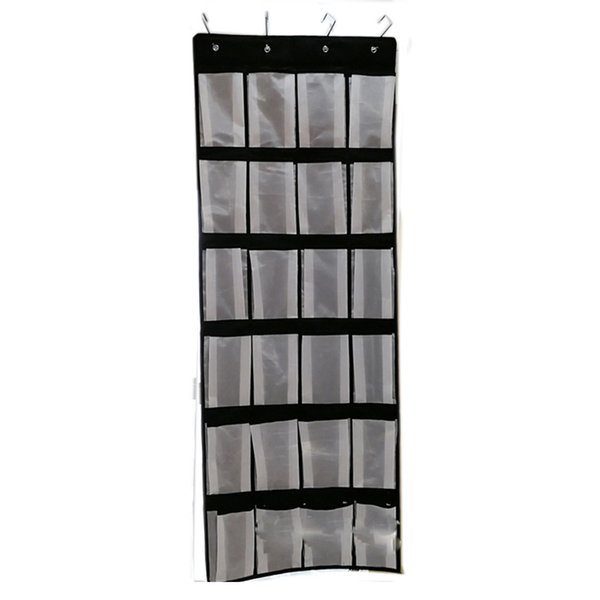 Hanging Multi-layer 24 Grids With Hooks Wall Home Organizer Household Nonwoven Fabric Durable Cloth Bathroom Storage Pocket Door
