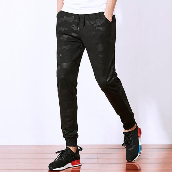 Pants Men Streetwear Summer Casual Camouflage Print Jogging Sweatpants Drawstring Long Pants Plus Size pantalones hombre 19APR18