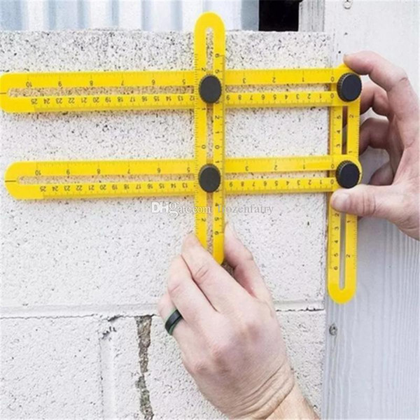 Angle-izer Multi-Angle Ruler Measuring Instrument Template Tools Four-Sided Ruler All Angel Forms For Handymen Builders Craftsmen bb873-880