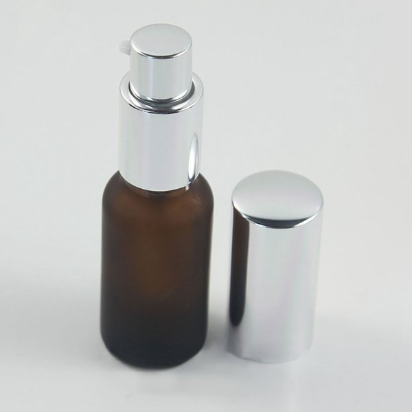 amber frosted lotion pump