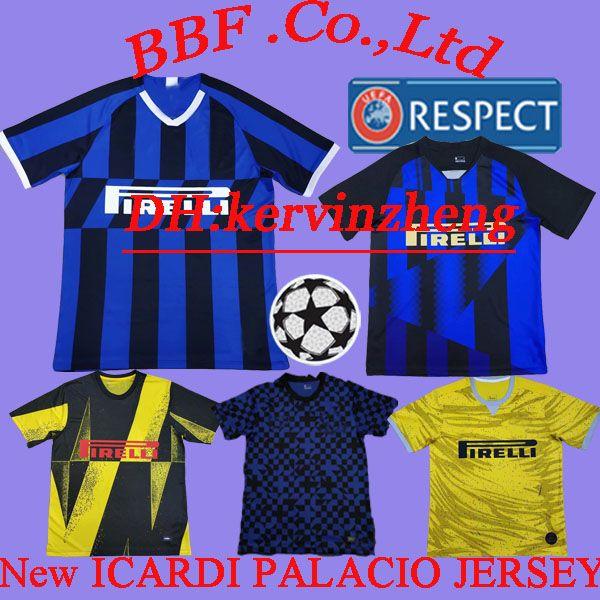 Tailândia 19 20 seasons 20th Edition camisa JOVETIC ICARDI PALACIO MEDEL CANDREVA camisas de futebol de treino retro jerseys inter camisa de futebol